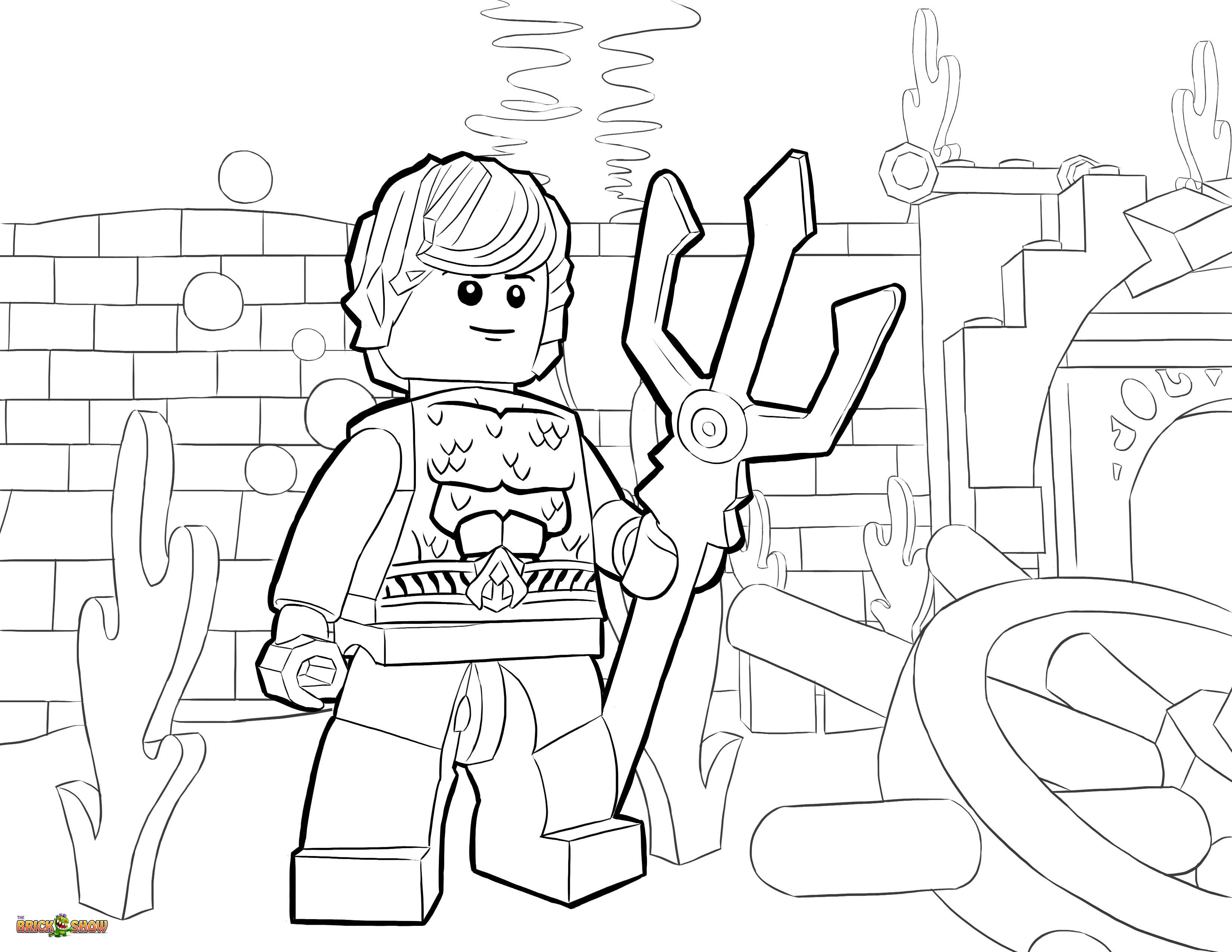 Lego Super Hero Colouring Pages 24035