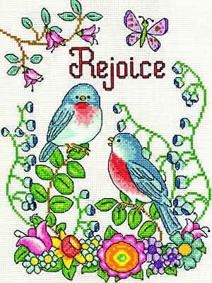 Rejoice Cross Stitch Kit by Design Works