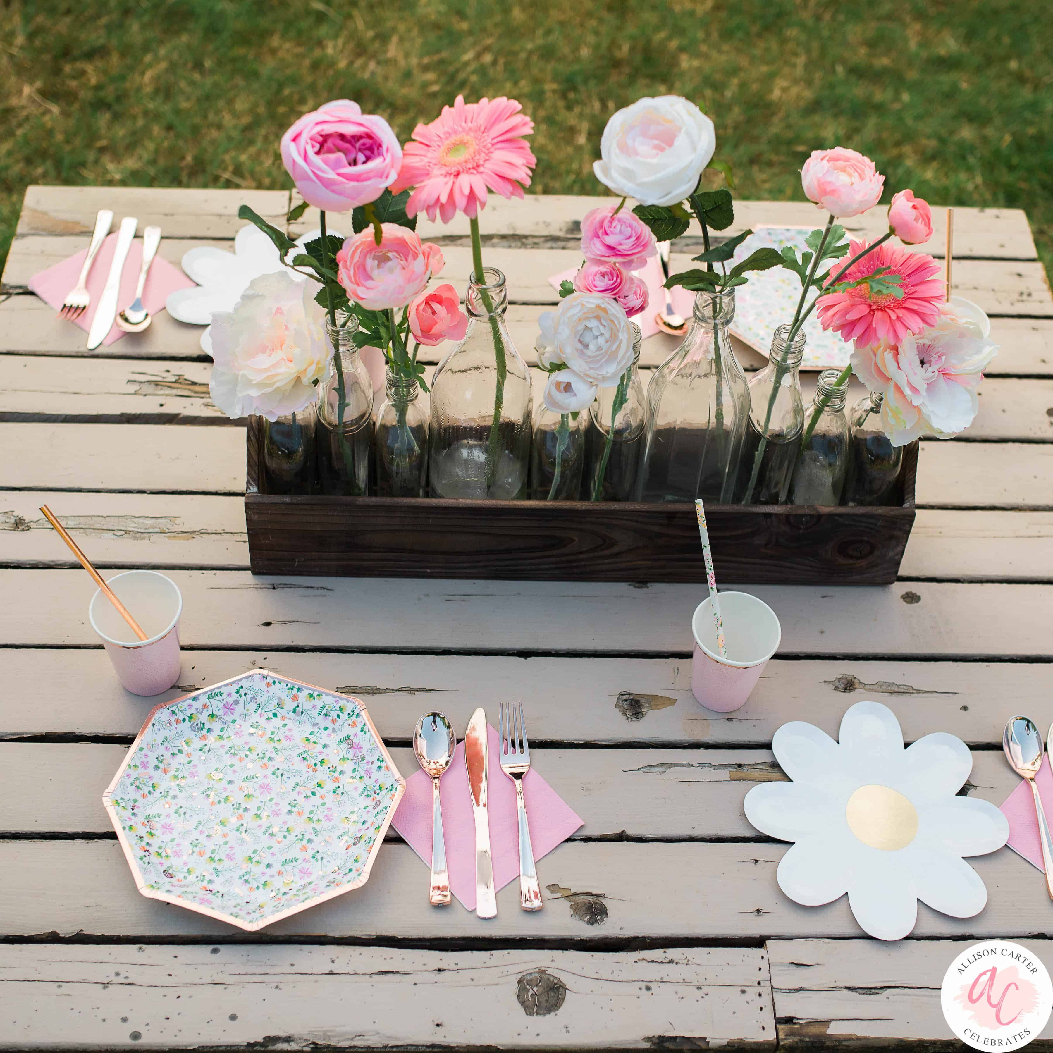 In A Field Of Roses She Is A Wildflower A Flower Themed 5th Birthday Party Flower Birthday Party Flower Party Themes Wildflower Birthday Party