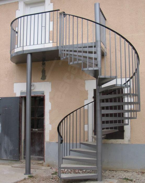 photo s15 gamme initiale spir 39 d co classique escalier standard d 39 ext rieur en acier. Black Bedroom Furniture Sets. Home Design Ideas