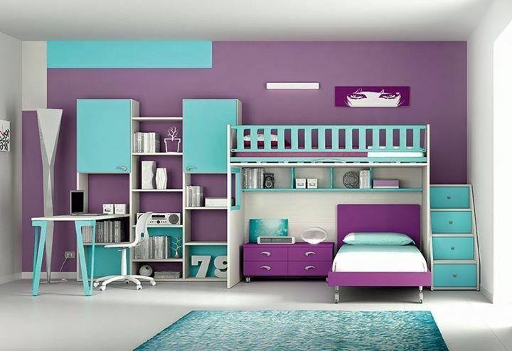 Pin by vidhi shah on bedroom in 2018 pinterest - Habitaciones infantiles compartidas ...