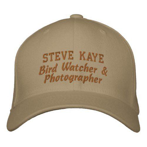 a4b0629c0 Bird Watcher Custom Name Embroidered Baseball Hat | Zazzle.com ...
