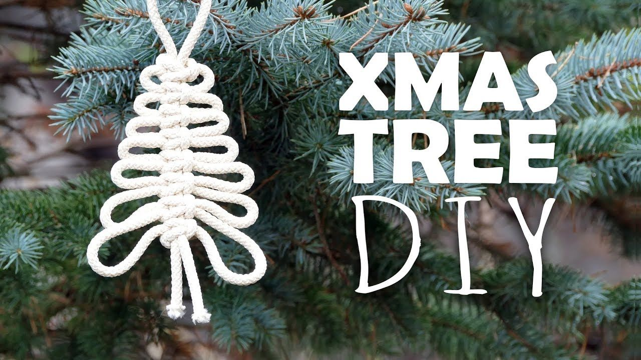 Knotted Xmas Tree Easy Tutorial By Macrame School Xmas Tree Christmas Ornaments Macrame Patterns Tutorials