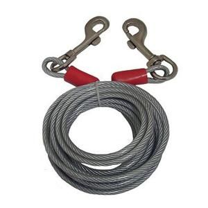Black Rock 25 Ft Steel Cable With Bolt Snaps 46457 The Home Depot Black Rock Galvanized Steel Cable Tie