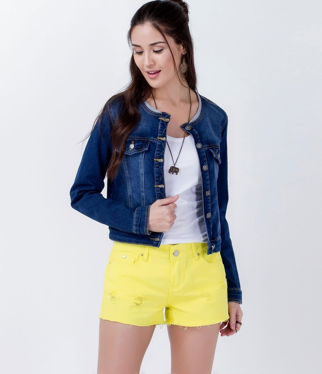 Jaqueta em Moletom com Efeito Jeans - Lojas Renner