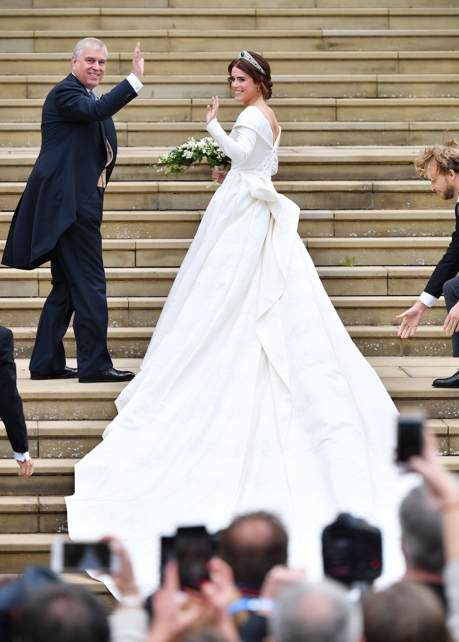 The Royal Family Gathered At Princess Eugenie S Wedding Eugenie Wedding Royal Wedding Dress Princess Eugenie