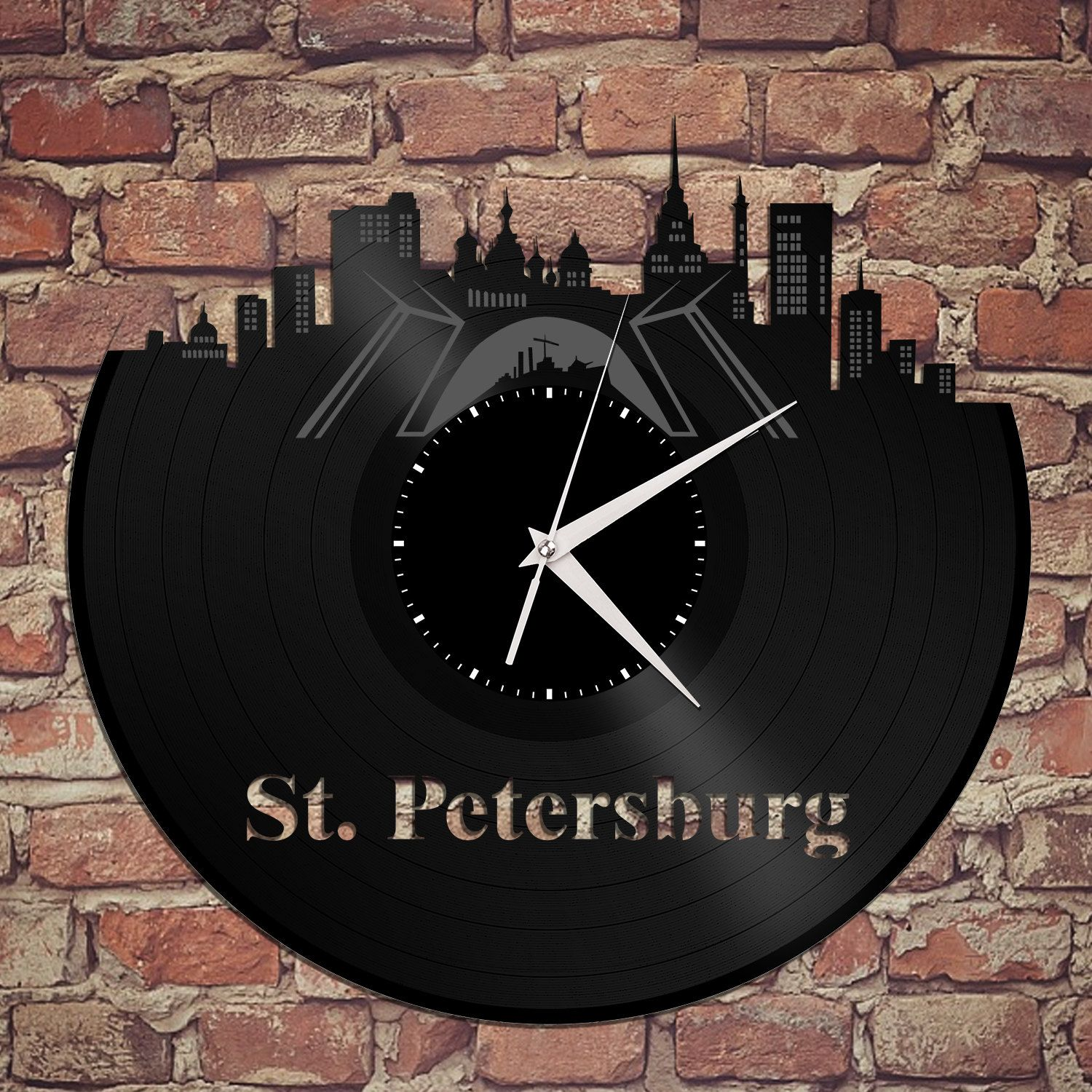 Panoramic wall art russian watch st petersburg skyline wall panoramic wall art russian watch st petersburg skyline wall clock saint petersburg russia amipublicfo Images