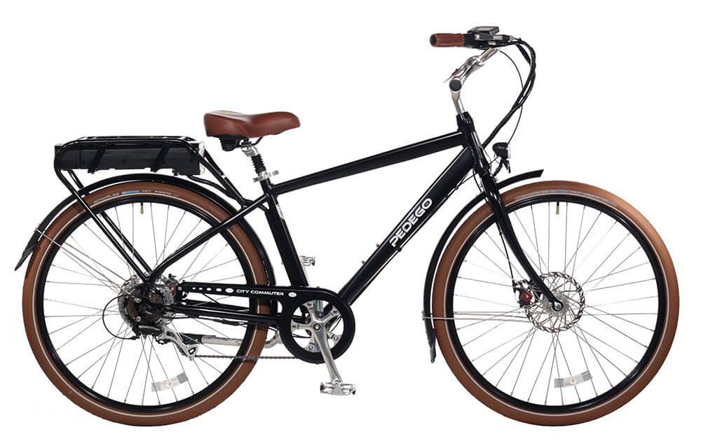 "Pedego City Commuter 28"" Classic Black with Brown Balloon Package 48V 10Ah. 48 Volt 10 Amp Hour. 500 WATT BRUSHLESS GEARED REAR HUB MOTOR. UP TO 20MPH USING BATTERY POWER ONLY. Call Kevin @ Electric Bikes of La Quinta with any questions (760)972-4017."