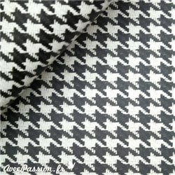 Papier tassotti motifs pied de poule noir    Papiers fantaisie pour le cartonnage, l'encadrement, la décoration, les loisirs créatifs, la reliure
