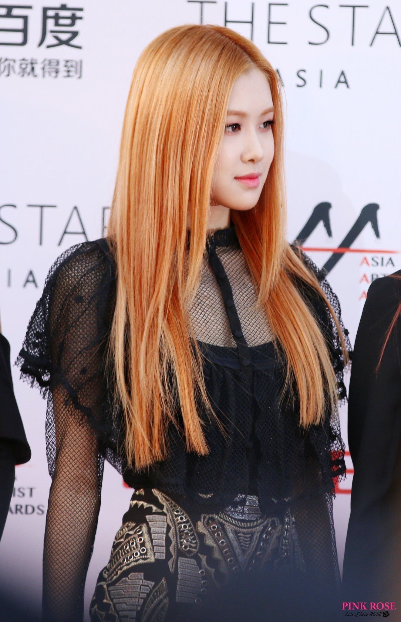 Lurv Rose S Hair Like This Actually I Just Love Rose Period Beautyandthepoet Orange Hair Blackpink Beauty