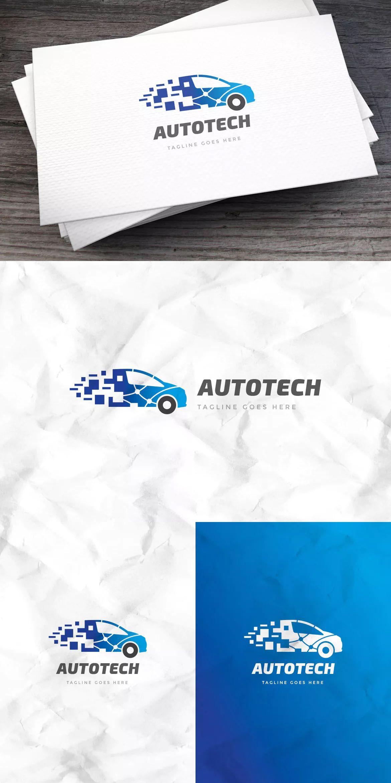 Auto Tech Logo Template AI, EPS. Download   Logo templates ...