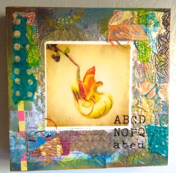 Pipe Vine acrylic collage by pinkmonkeyflower on Etsy
