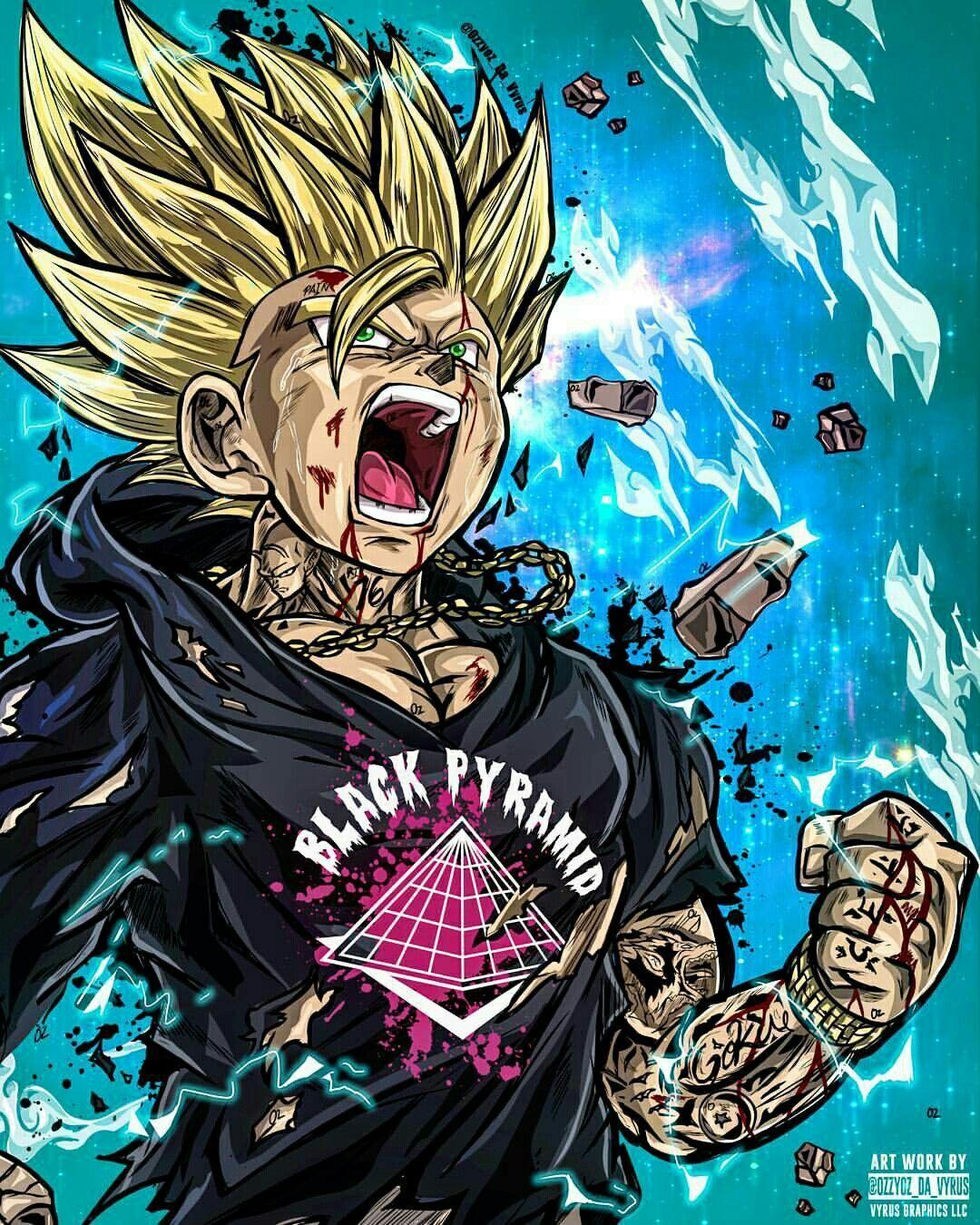 Gucci Dbz Dragon Ball Gt Personagens De Anime Desenhos Dragonball