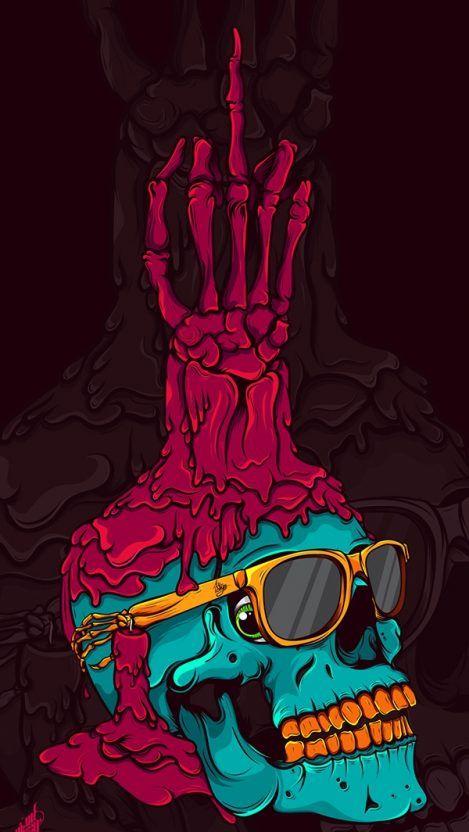 No Pinterest Deepxxx Skull Art Skull Wallpaper Art