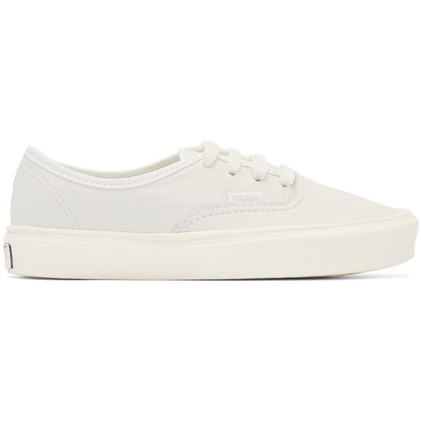Vans Off White Authentic Lite LX Sneakers ($92) ❤ liked on