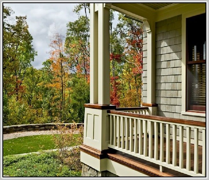 Image result for front porch railing styles   Porch ...