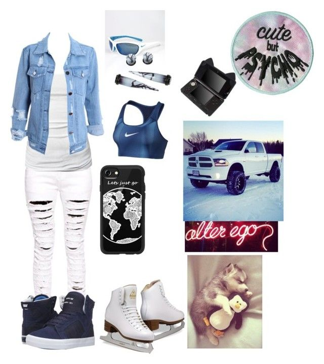 """""""Alter ego ugh I hope I did it right I was challenged"""" by ironkyle ❤ liked on Polyvore featuring NIKE, Casetify, Boohoo, Supra and James Perse"""