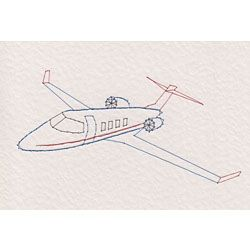 Stitching Cards Learjet