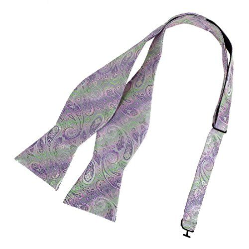 Epoint Mens Fashion Multicolored Patterned Self Bowtie Best Gift Silk Set