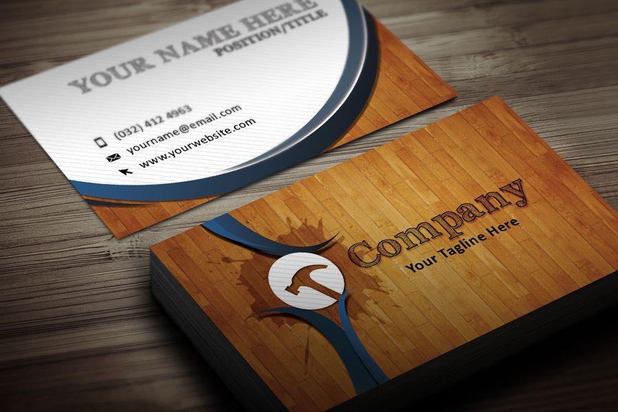 Handyman business card template modern business cards