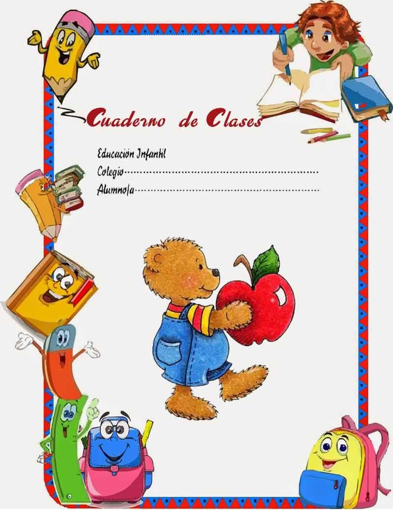 Caratulas Color Cuadernos Escolares Infantiles Dibujos Para Imprimir 36 Imagenes Pw Teach English To Kids Clip Art Borders Teaching English