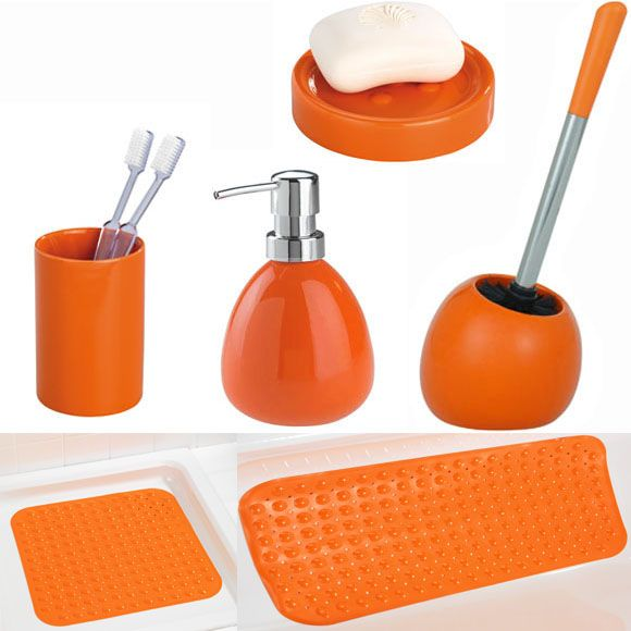 The 25 Best Orange Bathroom Accessories Ideas On Pinterest Orange Bathroom Decor Orange
