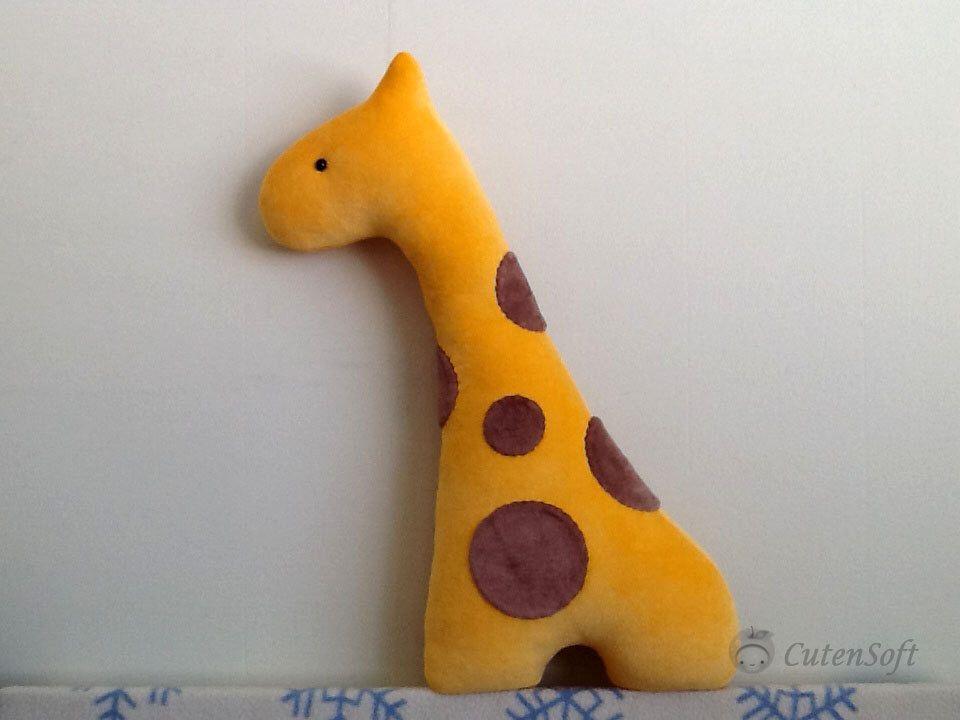 "12"" Organic Stuffed Giraffe - Stuffed Animals, Plush toy, Animal Pillow, Handmade organic toy, animal cushion, eco friendly toy by CutenSoft on Etsy https://www.etsy.com/listing/161741439/12-organic-stuffed-giraffe-stuffed"