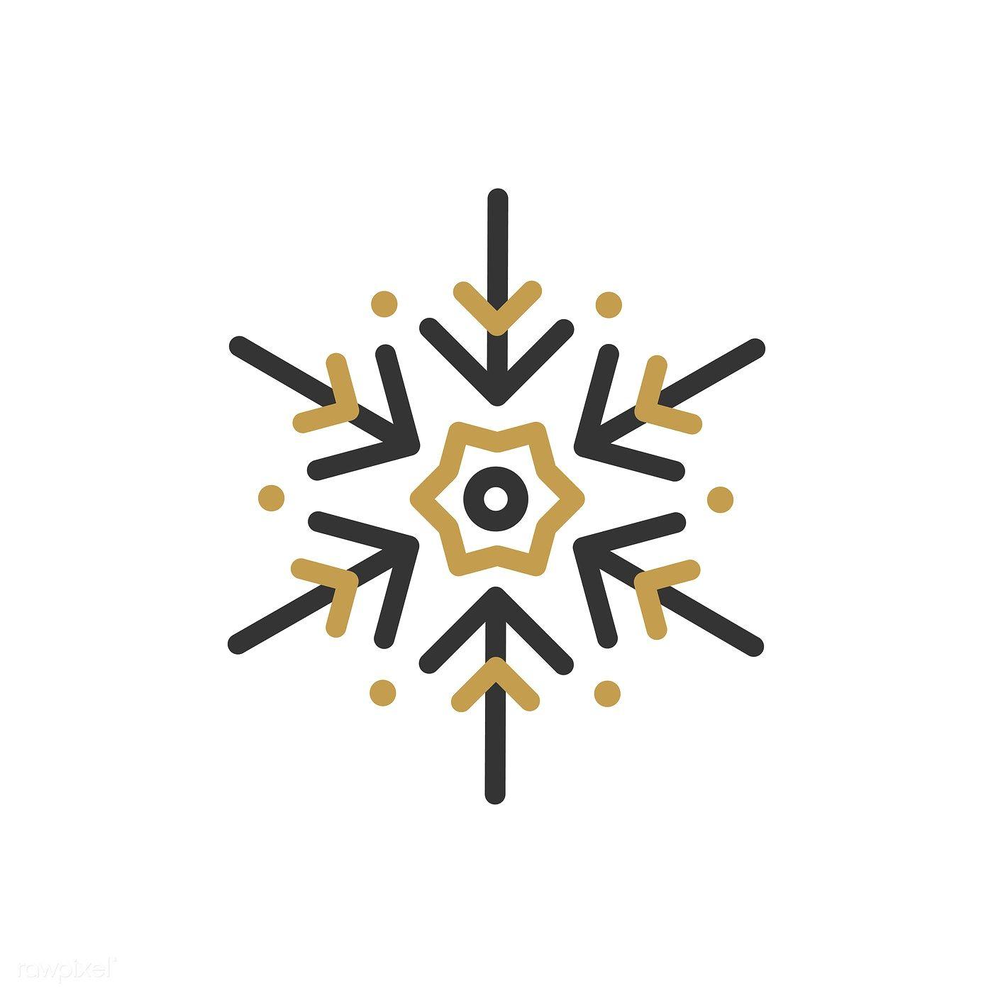 Single snowflake Christmas design vector