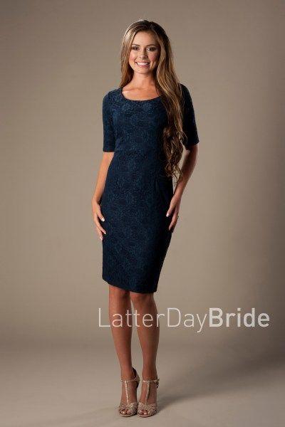 ac1bb22e2046 modest knee length dresses, MDS 1611 at LatterDayBride, pencil skirt
