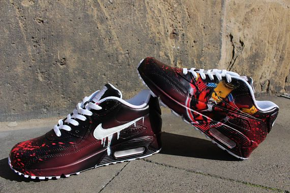 Custom painted Nike Air Max 90