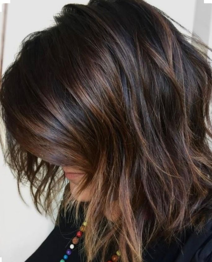 Subtle Highlights Bayalage Fall Hair