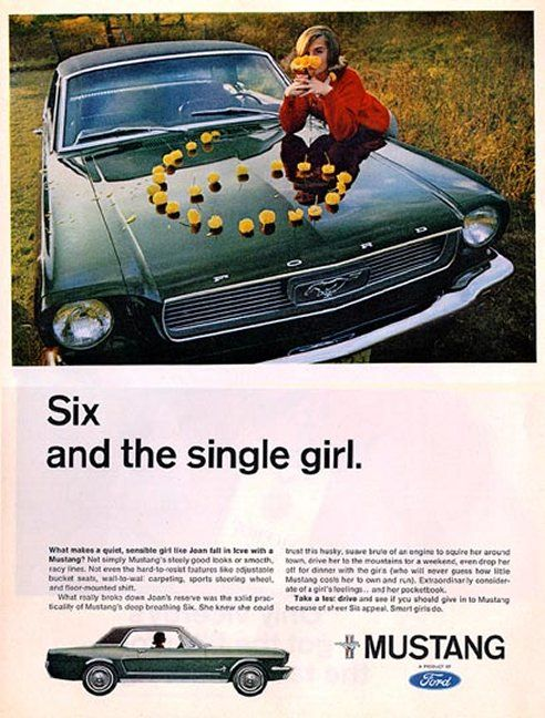 1966 Ford Mustang Ad 6 Cylinder Secretary Special Aggressively Aimed At Women