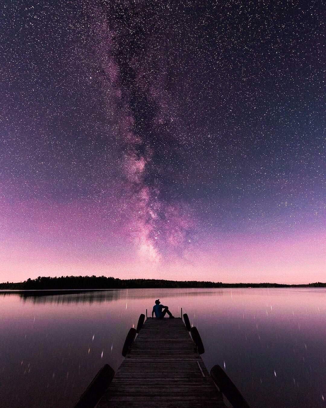 Under the stars on a summer night (Atikokan, Ontario) by