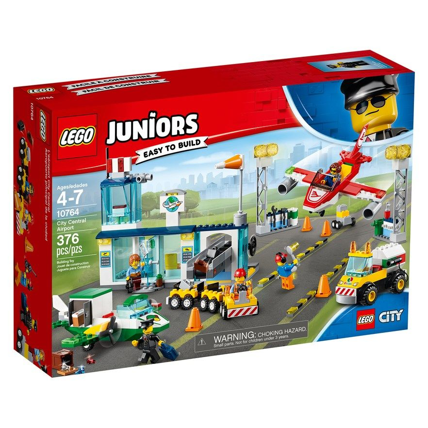 Lego Juniors City Central Airport Set 10764 In 2020 Lego Juniors Lego Junior Sets Lego City