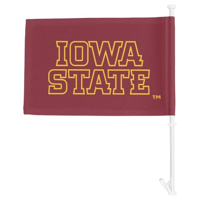 Iowa State University | Block Design Car Flag | Zazzle.com