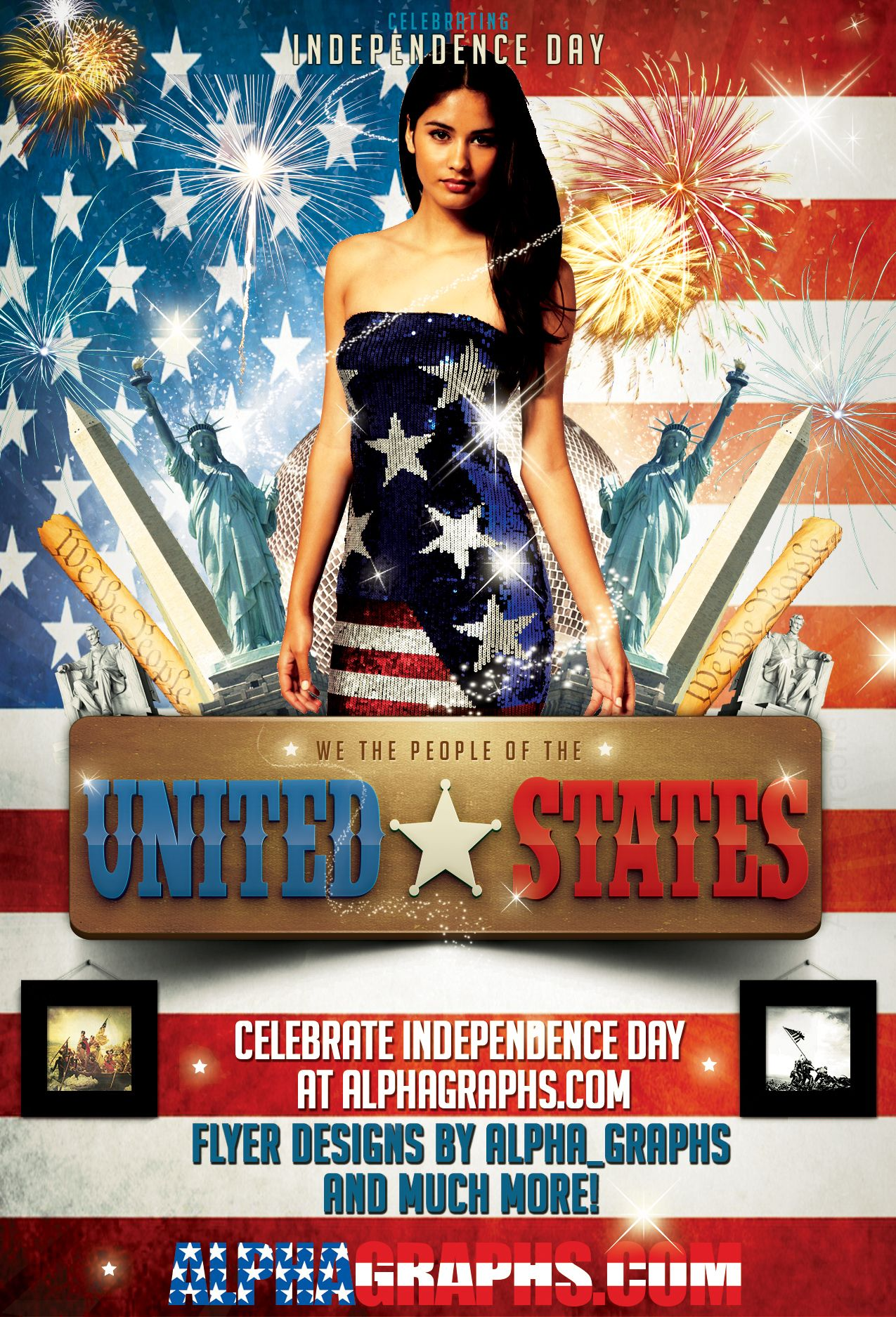 Celebrate Your Independence Day Flyer Templates Can Be Downloaded