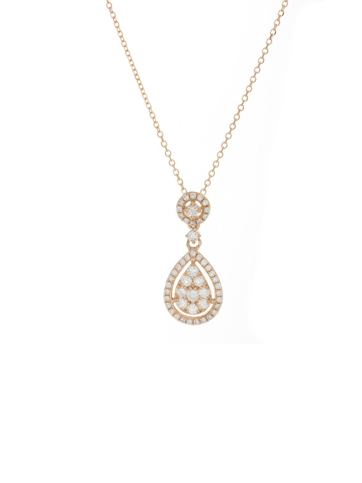Kc designs pink gold teardrop pendant necklace pretty in pink kc designs pink gold teardrop pendant necklace aloadofball Image collections