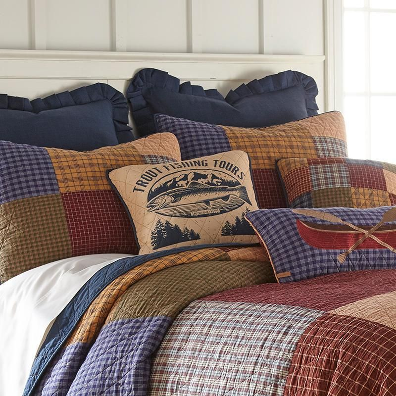 Lake House 3 Piece Cotton Quilt Set, Lake House Queen Bedding