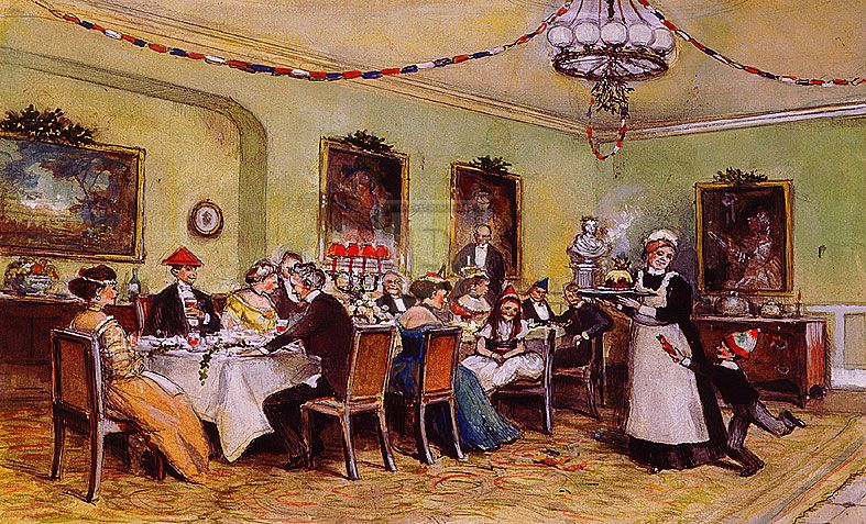 Christmas Day Meal - Traditional | Folk art and Illustrations