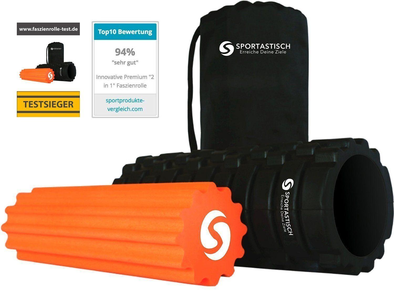 Innovative Premium 2 In 1 Faszienrolle Als Set Rock N Roll Von Sportastisch Hochwertige Massagerollen In Geprufter Qualitat Faszien Selbstmassage Sport