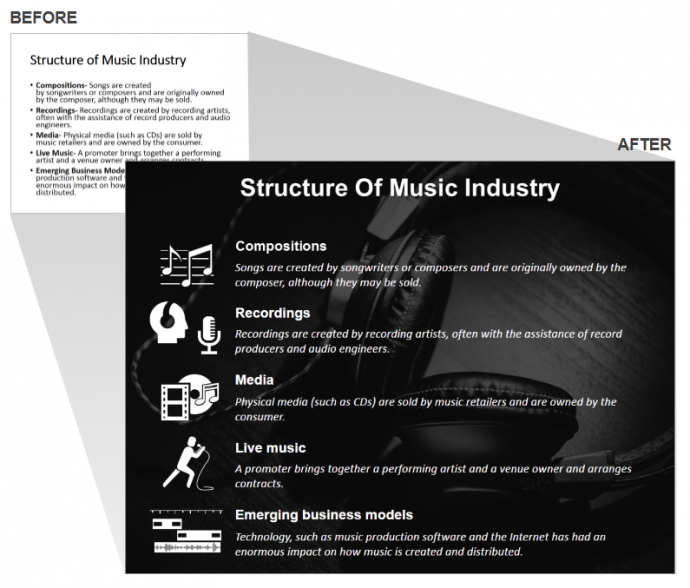 Music Industry Presentation Slide