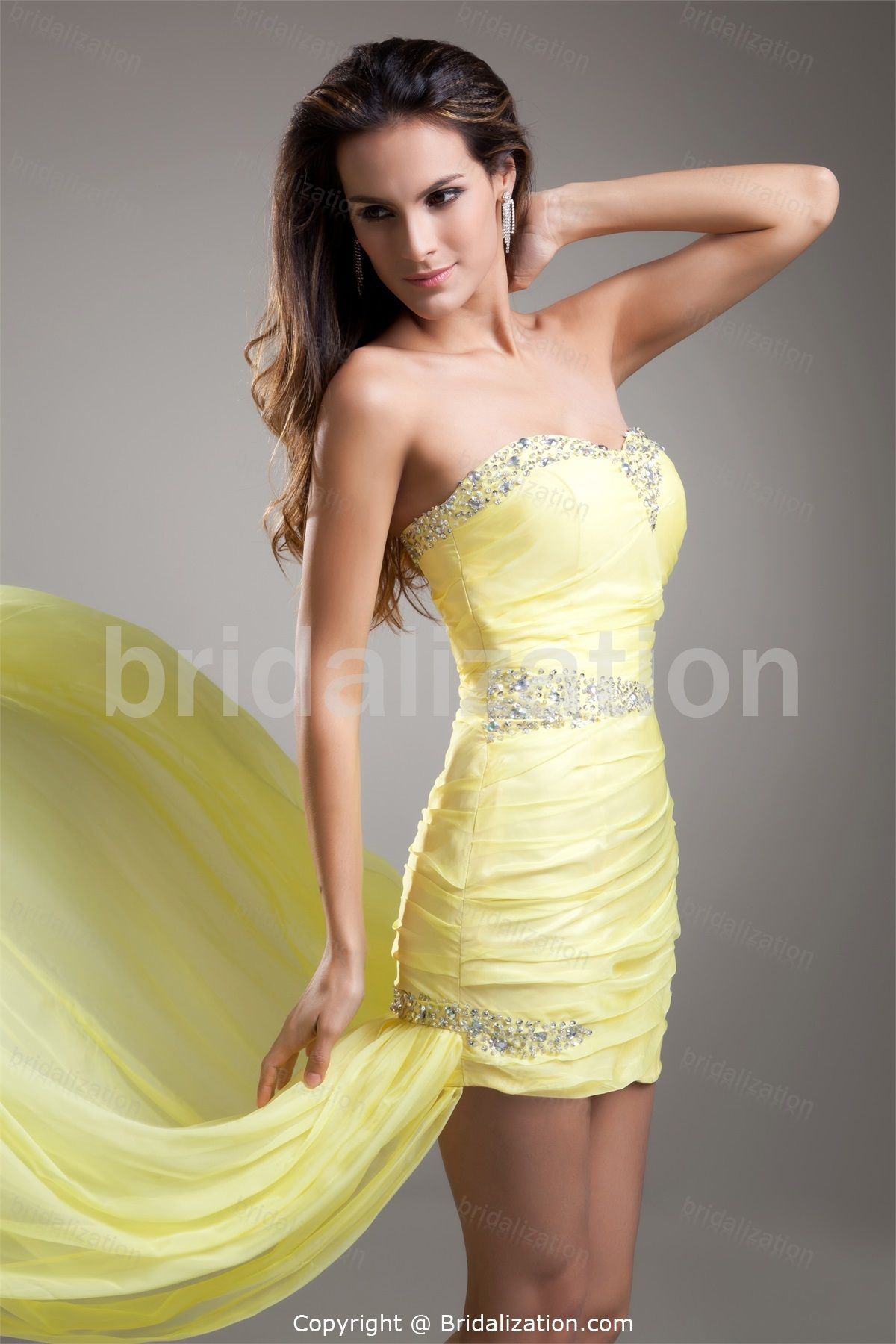 Daffodil Date Dresses Asymmetrical Chiffon Special Occasion Cocktail Dresses