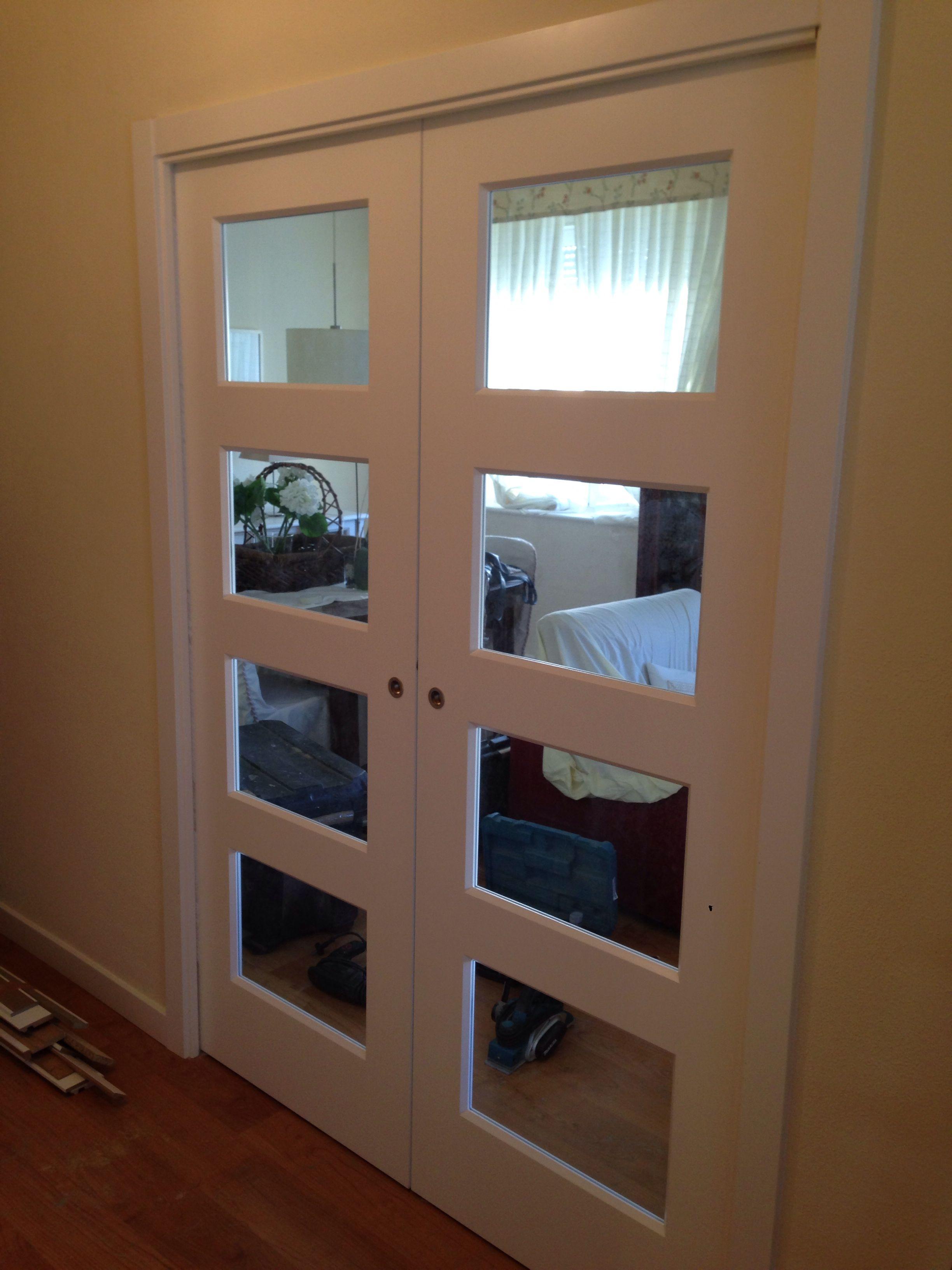 400 Ps V4 Con Cristal Transparente En Corredera Puertas Correderas Madera Puertas Lacadas Puertas De Aluminio