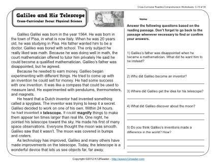 Galileo And His Telescope Biography Book Report Pinterest