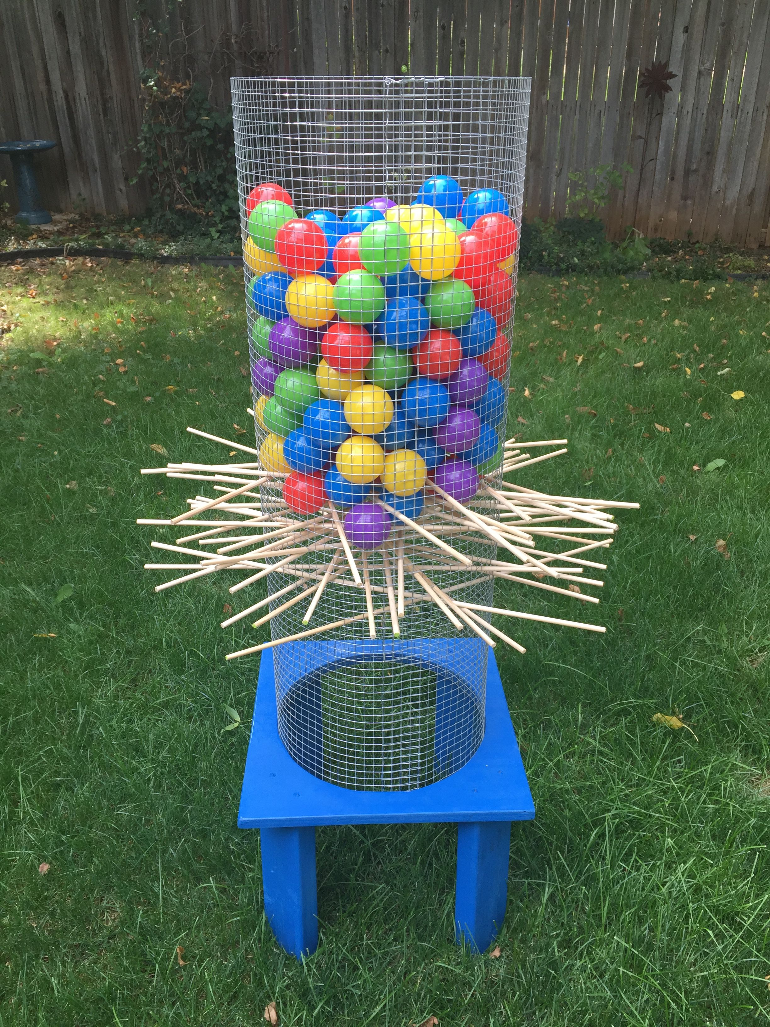 giant kerplunk game for the yard fun for kids and adults. Black Bedroom Furniture Sets. Home Design Ideas