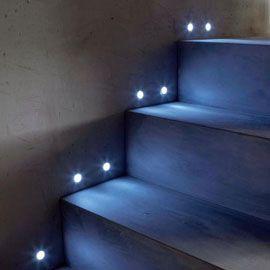 10 Spots A Encatres Led Blanc Castorama Led Escalier Deco Escalier Spot Escalier
