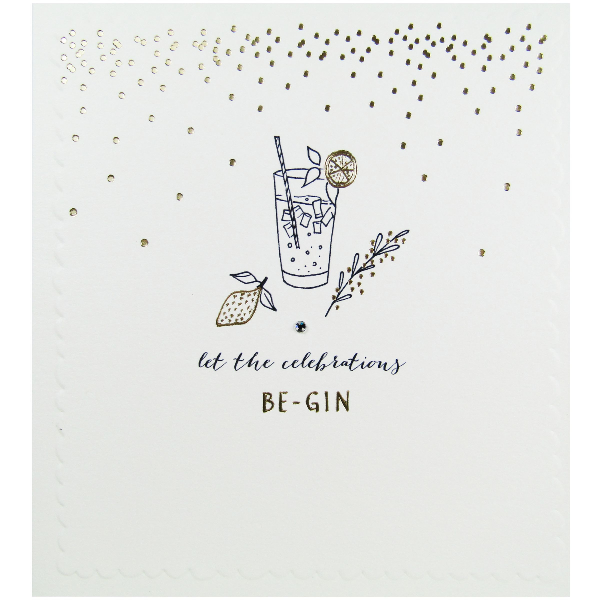 The Proper Mail Company Gin And Tonic Birthday Card Calligraphy Birthday Card 18th Birthday Cards 21st Birthday Cards