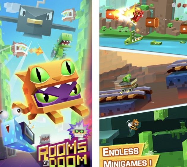 Dai creatori di Crossy Road arriva Rooms of Doom: Minion Madness