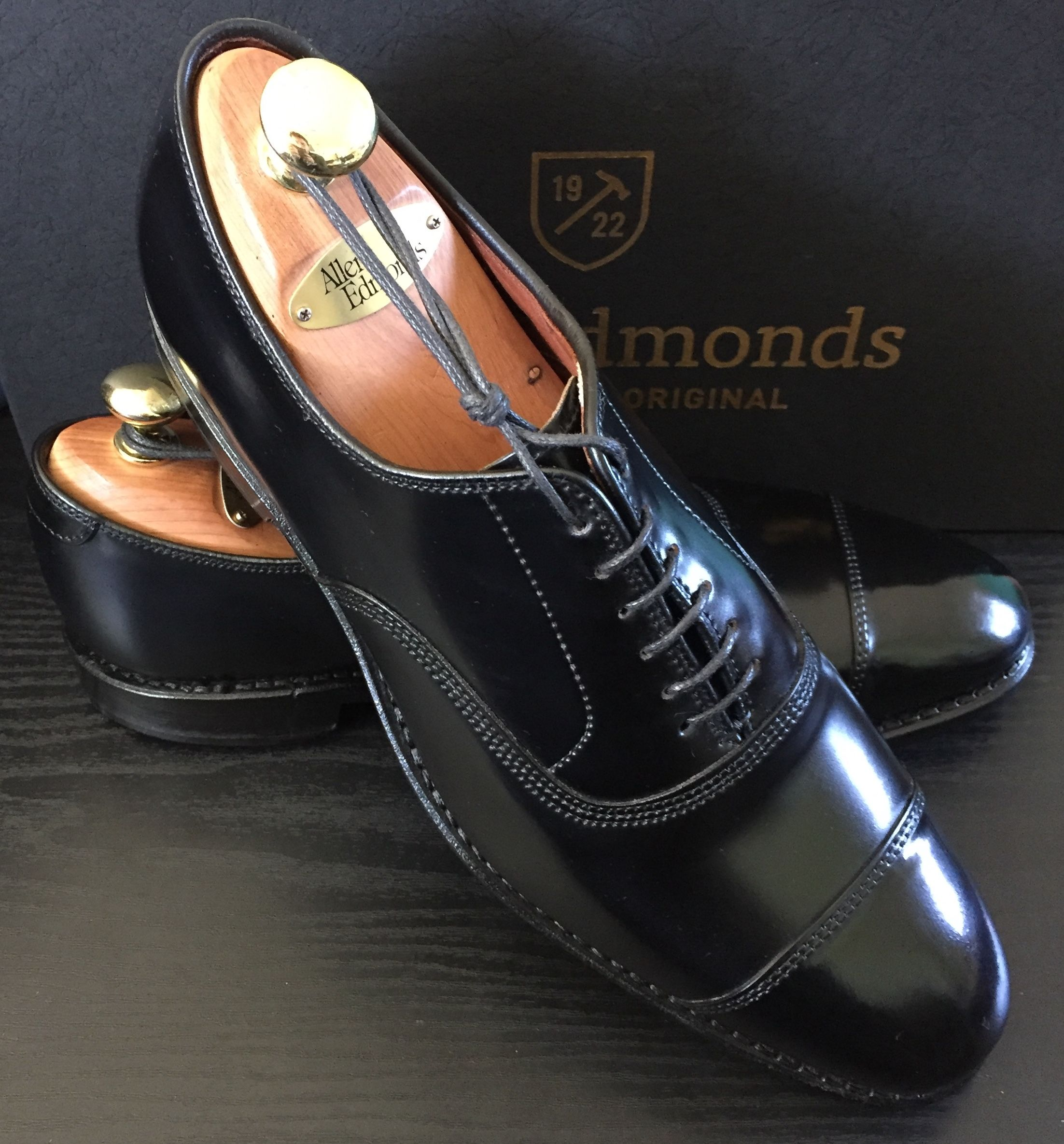 84134f0ea317 Allen Edmonds Park Avenue Cap Toe Balmoral Oxford in Genuine Horween Black  Shell Cordovan with Single J. Rendenbach Leather Soles and Dove Tail  Leather ...