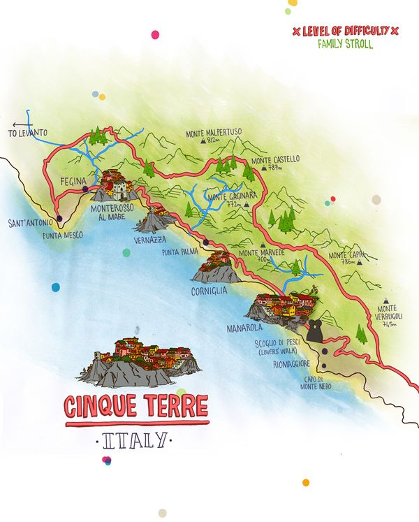 Italy Map Cinque Terre.National Geographic Traveller Map Of Cinque Terre By Alistair Palmer